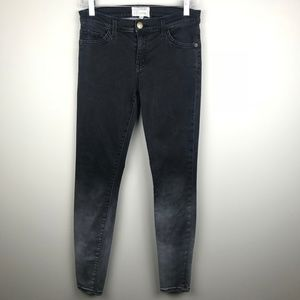Current Elliot The Ankle Skinny Jeans Black Fade